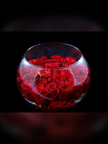 Black Magic Rose Bowl