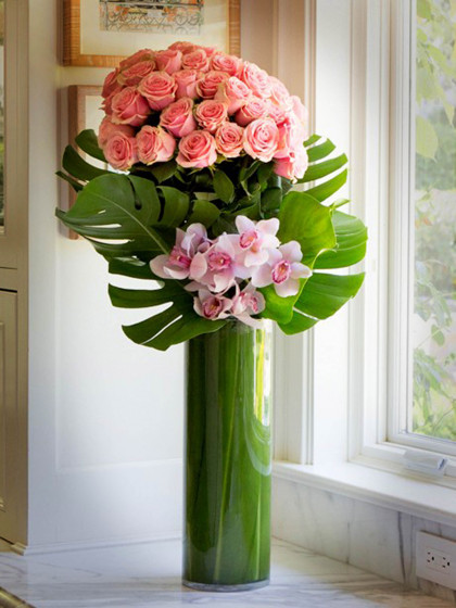 Abundant Roses and Orchids